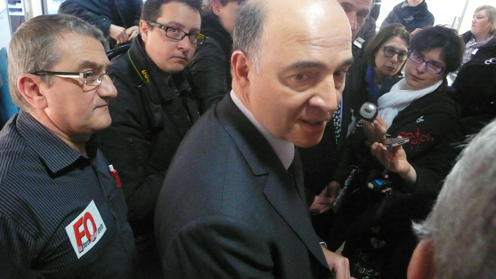 Pierre Moscovici n'a pas convaincu le délégué syndical FO, Philippe Grandguillaume... Ph DB