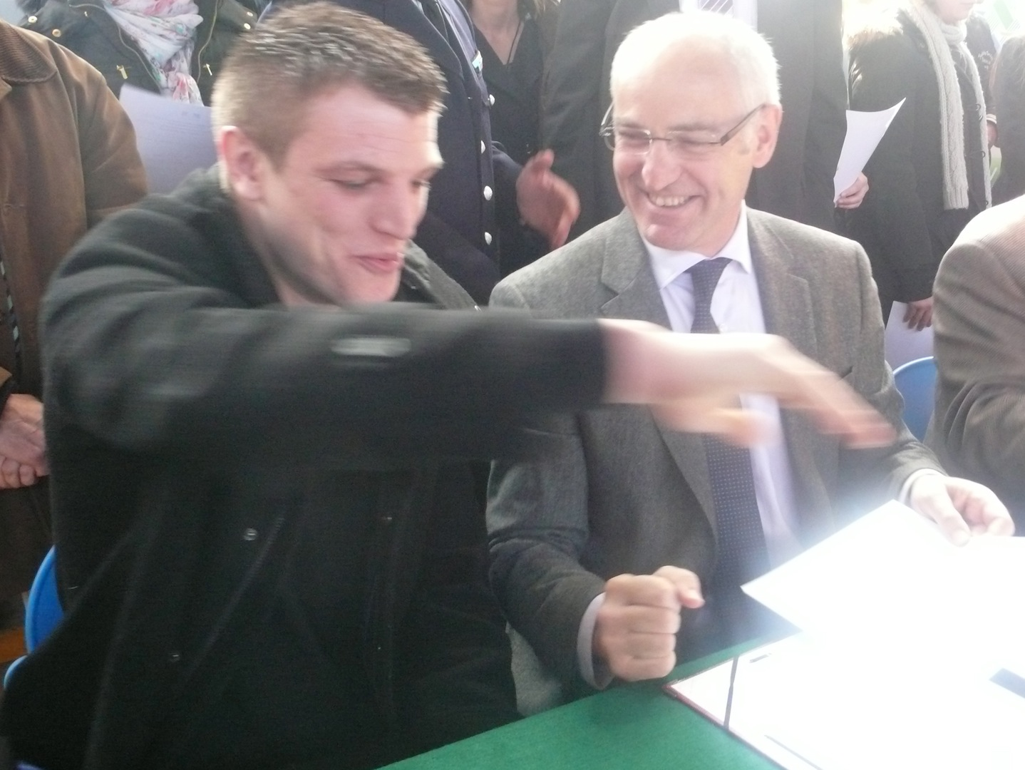 Cédric Tailhardat , Thierry Repentin.