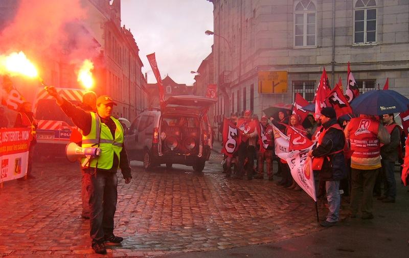 manifestation contre l'ANI, sécurisation de l'emploi, Besançon