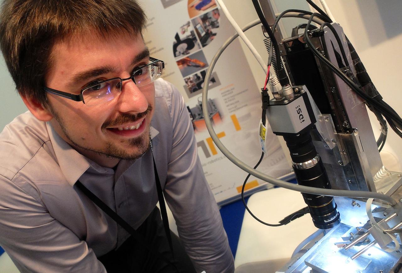 David Heriban, fondateur de Percipio-Robotics à Besançon-Témis