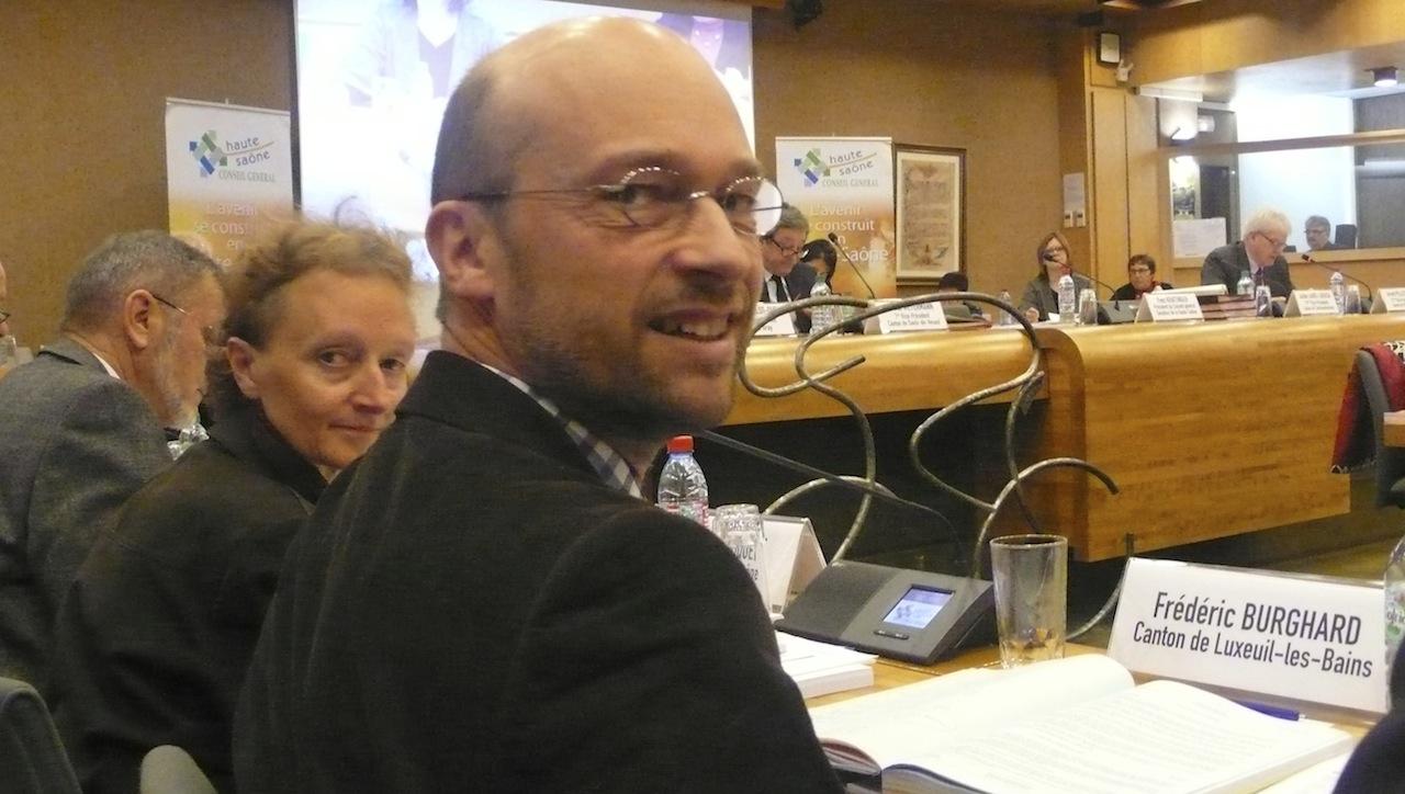 Frédéric Burghard (UMP) sera réélu dimanche, mais a peu de chances de succéder à Yves Krattinger. Photo d'archives