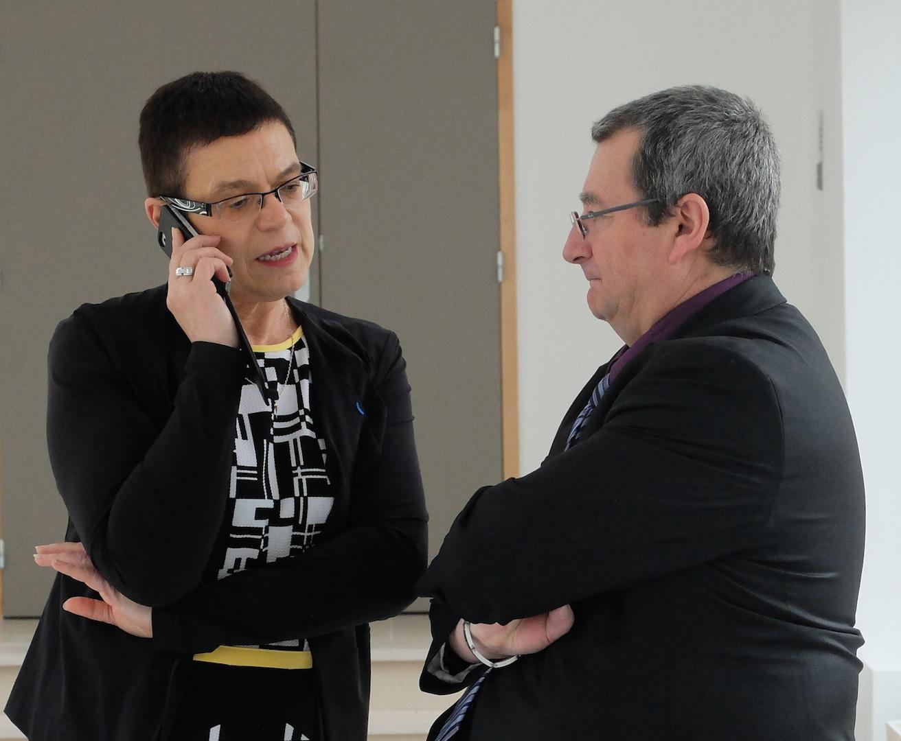 Christine Bouquin et son futur directeur de cabinet, Daniel Benazeraf.