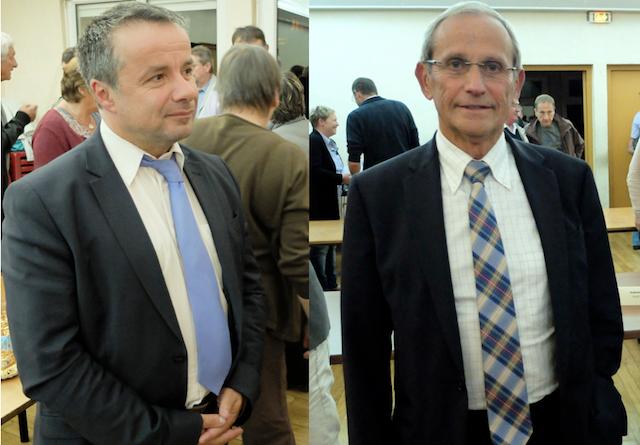 Raphaël Perrin (à gauche) n'entend pas céder la présidence au maire de Saint-Claude Jean-Louis Millet.