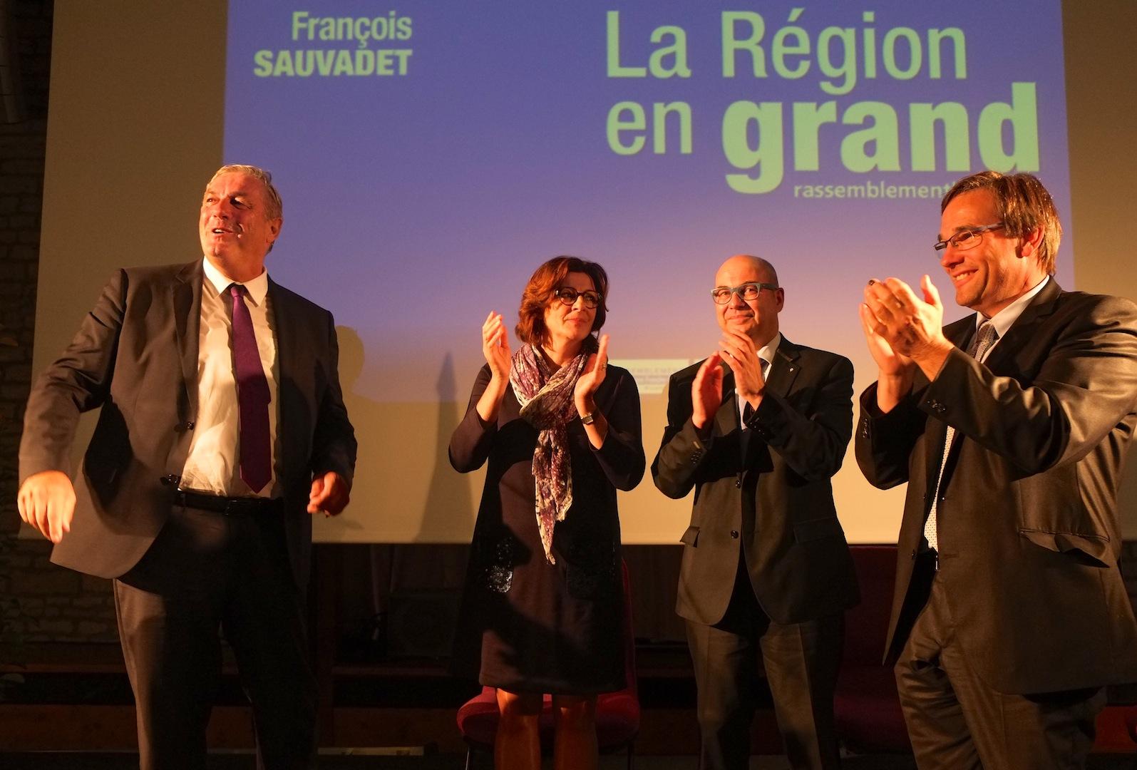 François Sauvadet, Hélène Pélissard, Jean-Philippe Lefèvre et Jean-Marie Sermier... Photos DB