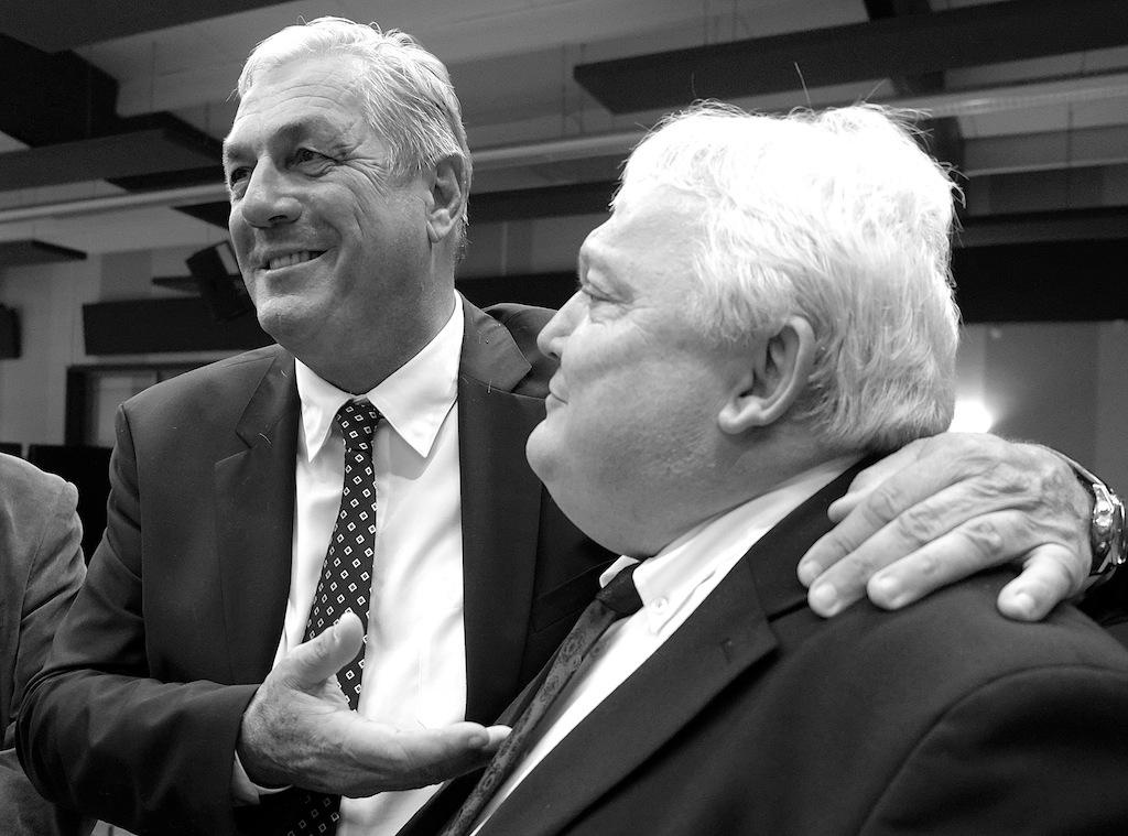 François Sauvadet, très chaleureux avec Clément Pernot, le président du Jura. Photos D.B.