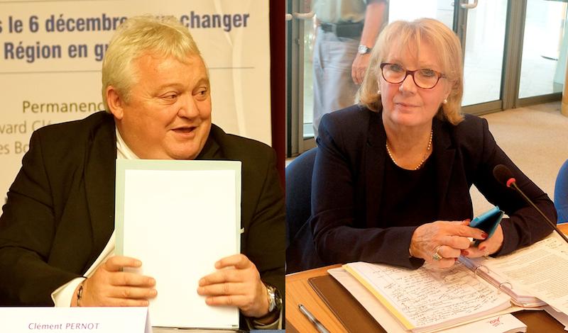 Clément Pernot (LR), président depuis le 2 avril dernier, et Danielle Brûlebois (PS), première vice-présidente de 2011 au 2 avril... Photos d'archives D.B.