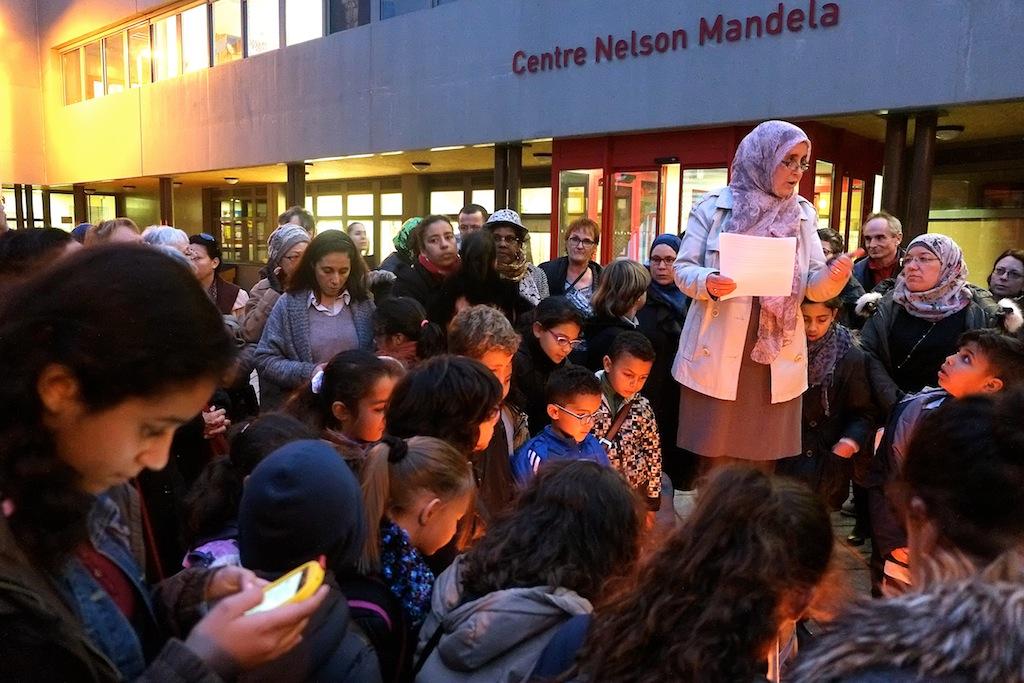 Amina Benaddi : « Tout le monde ici condamne sans réserve et de façon absolue » les assassinats de Paris et Saint-Denis. Photos D.B.