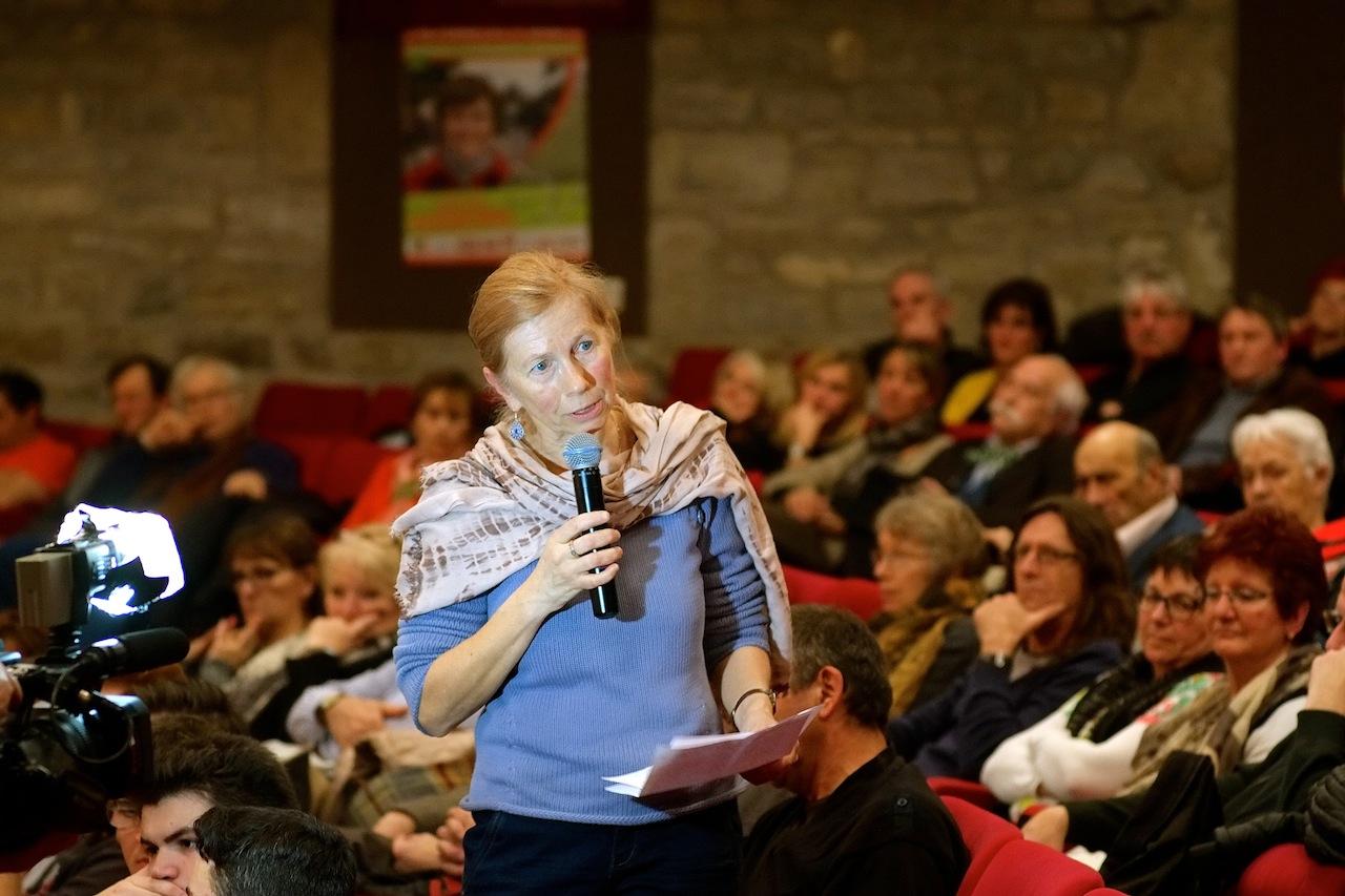 Dominique Henry, n° 14 sur la liste du Doubs : « la ferme des 1000 vaches de Picardie est un symbole de la financiarisation de l'agriculture ». Photos D.B.