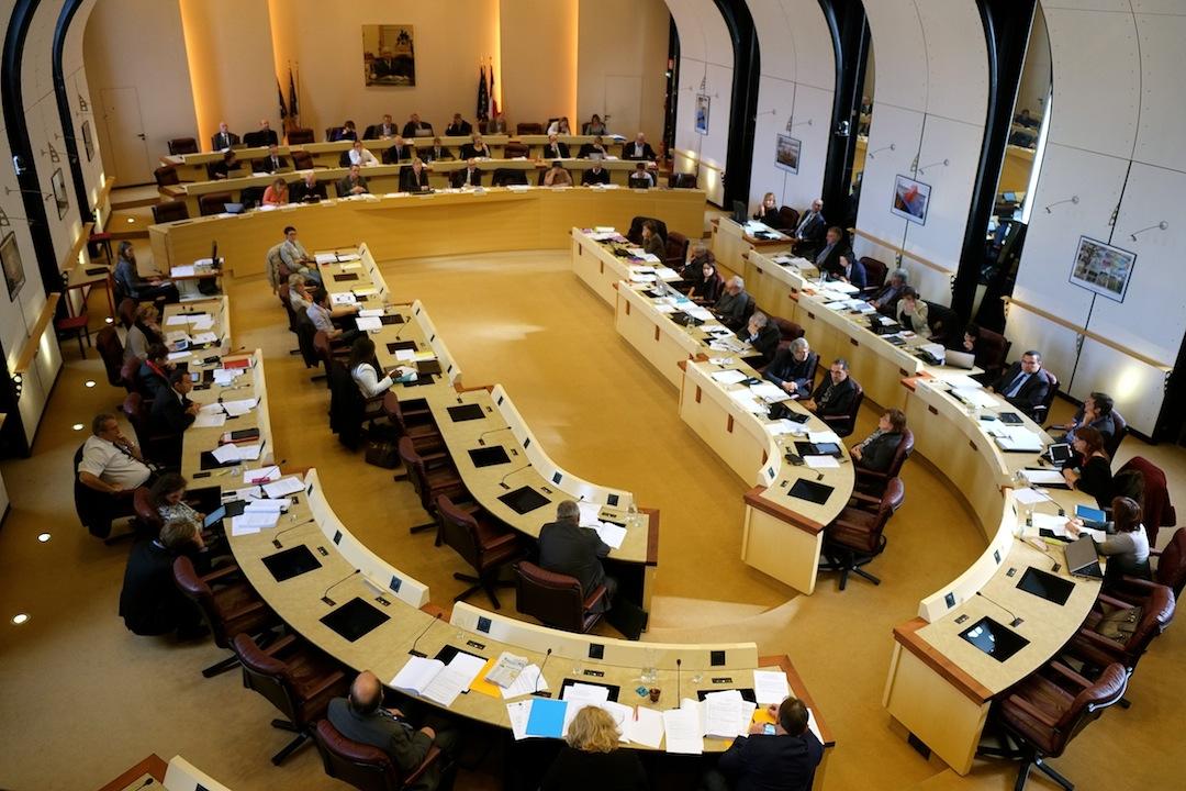 Le conseil régional de Franche-Comté lors de la dernière séance...