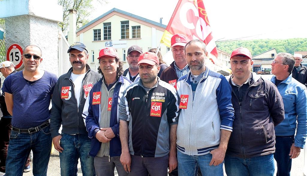 En avril dernier, une partie des salariés de Castmétal se mettait en grève pour protester contre cinq licenciements. L'inspecteur du travail en refusera un, et la cour d'appel de Besançon vient d'ordonner la réintégration des quatre autres. Photo d'archives