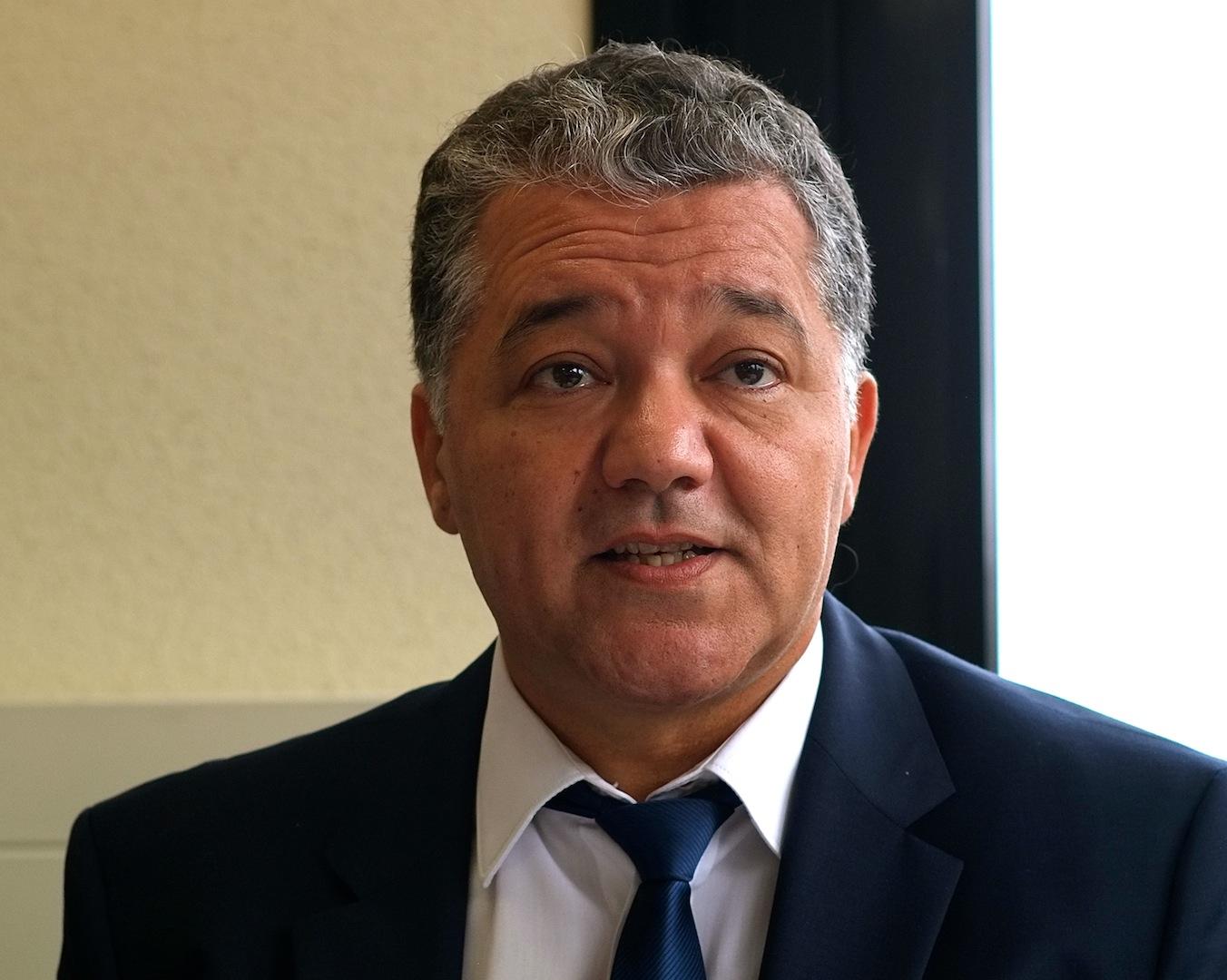 Jacques Bahi lors d'une conférence de presse de présentation de la rentrée universitaire en octobre 2015. Photo DB