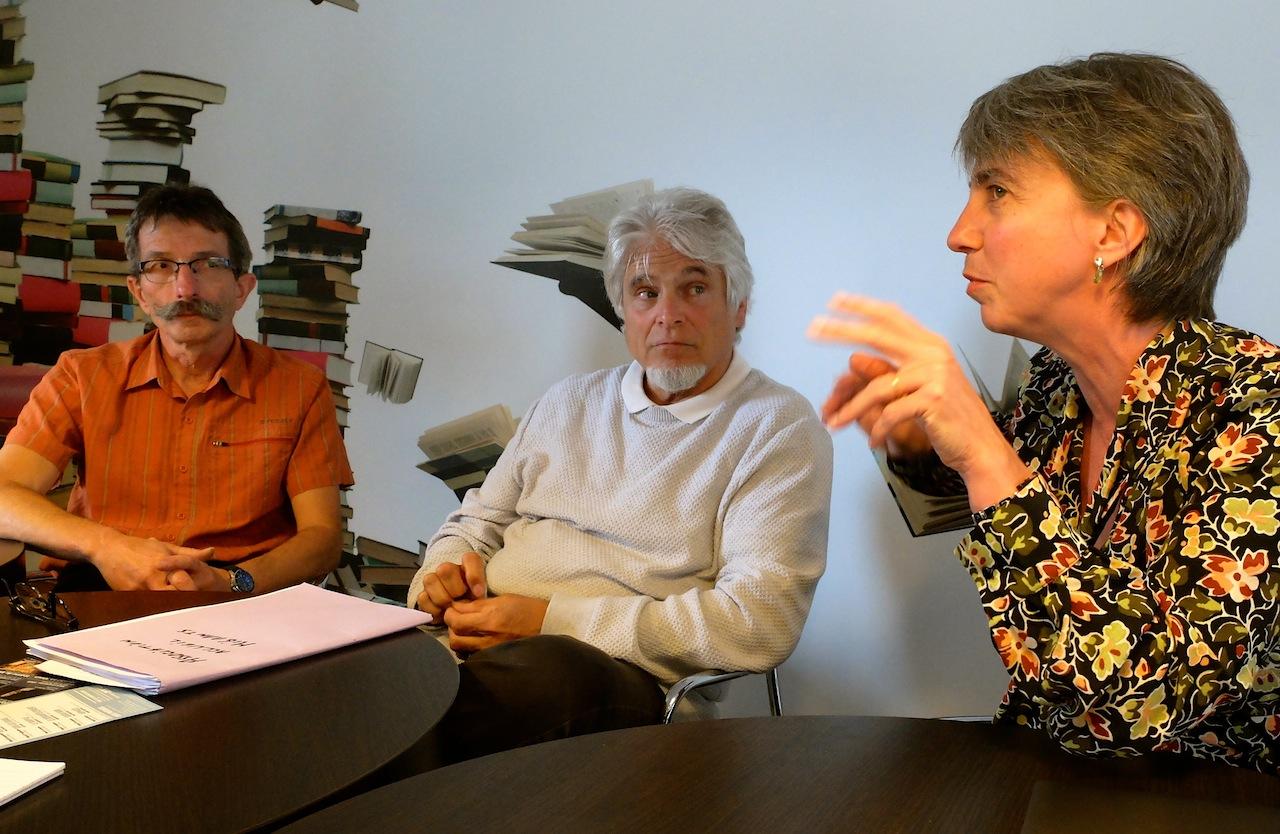 Bernard Brichoux, Patrick Colle et Laurence Bouchet, chevilles ouvrières du projet pontissalien. (Photo Daniel Bordur)