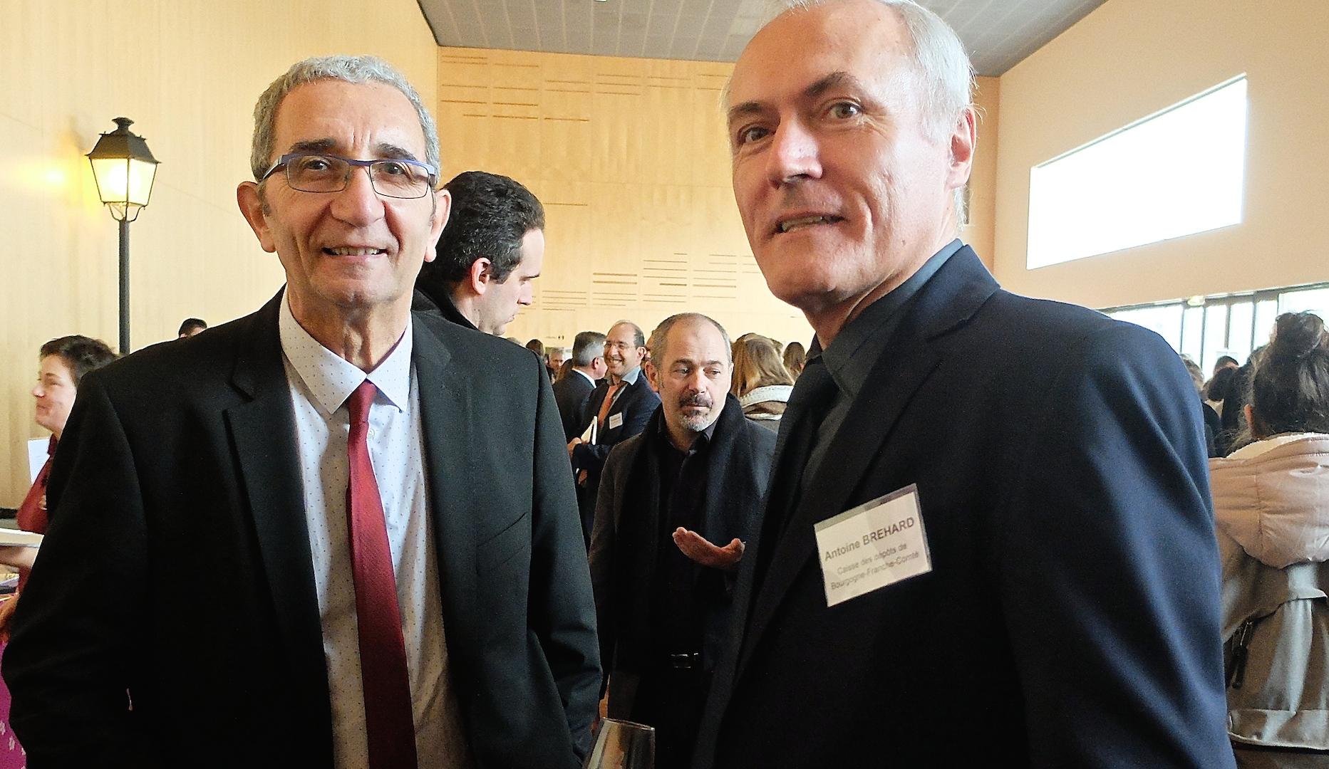 Patrick Ayache, vice-président au tourisme, et Antoine Bréhard, directeur régional de la Caisse des Dépôts. (photos Daniel Bordur)