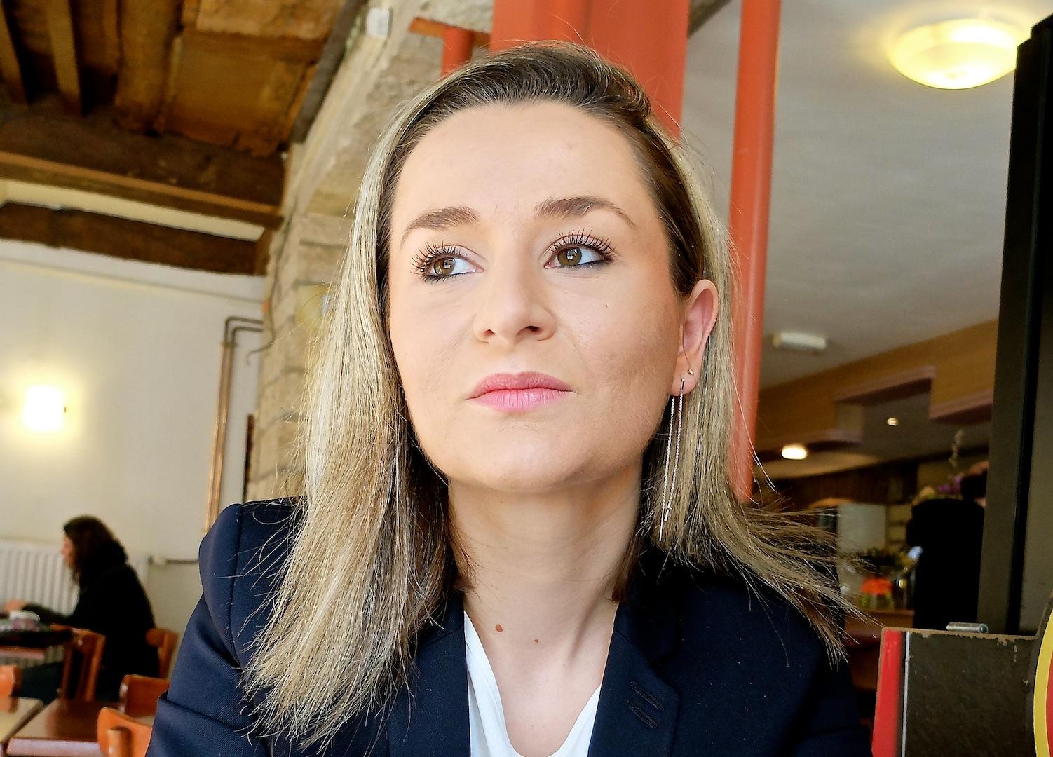 Alexandra Cordier, référente départementale d'En Marche Doubs : « j'appartiens à la nouvelle génération de progressistes... » (Photos Daniel Bordur)