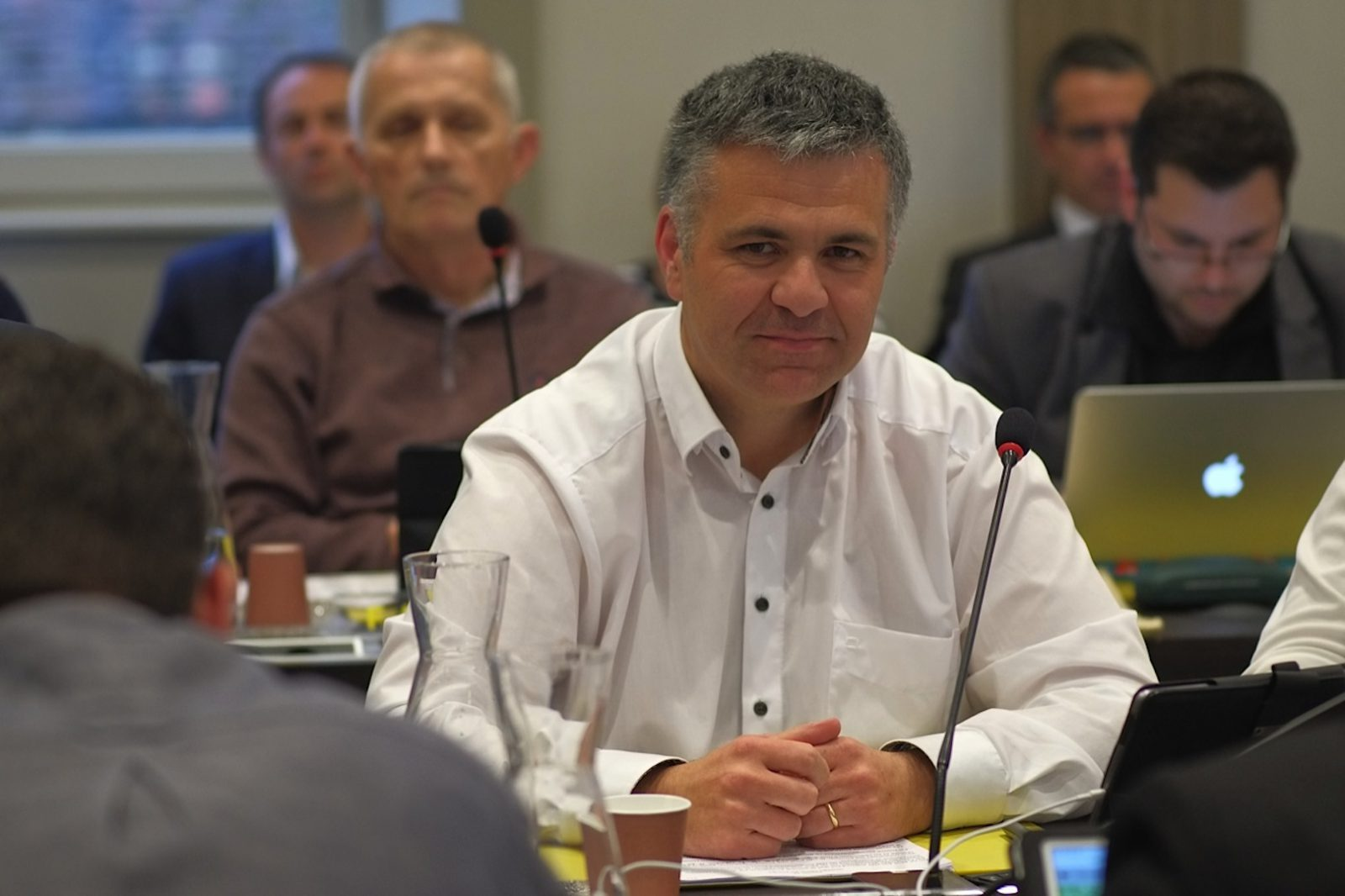 Laurent Croizier, lors d'un conseil municipal de Besançon en 2016. (photo d'archives Daniel Bordur)