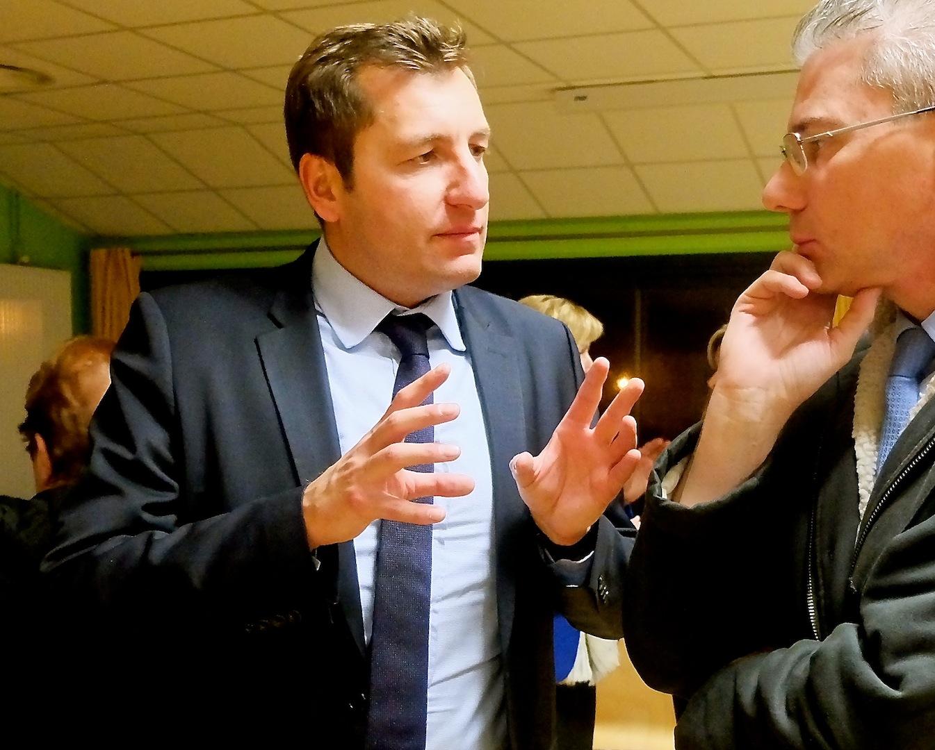 Alain Chrétien en novembre 2016 pendant la campagne de la primaire de la droite et du centre dans laquelle il soutenait Bruno Le Maire. (photo d'archives Daniel Bordur)
