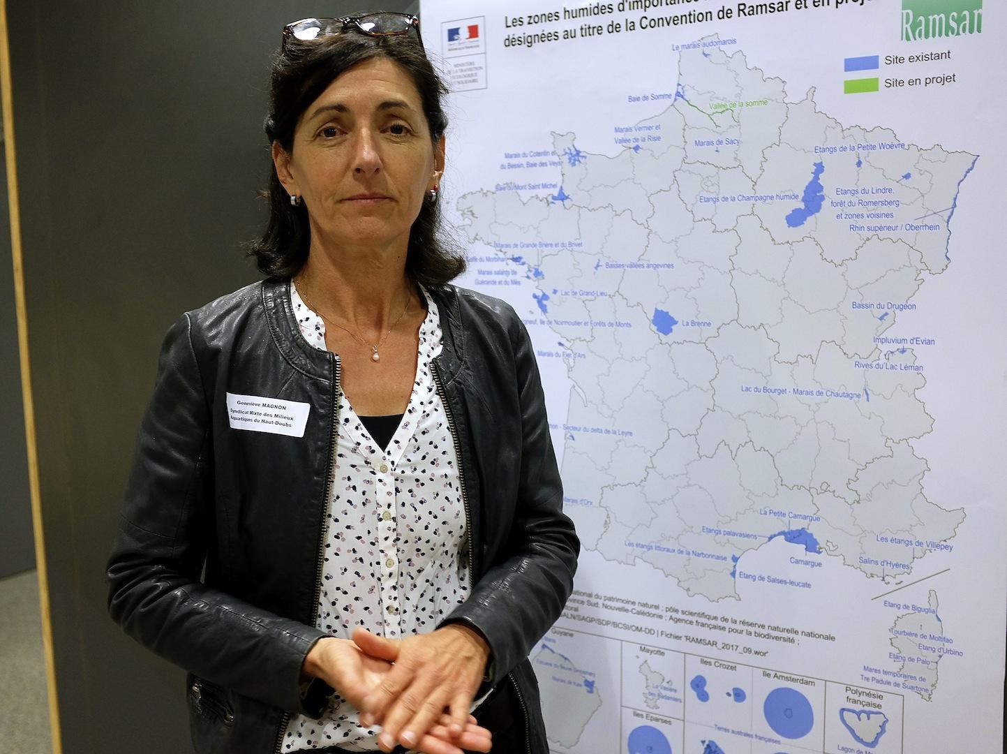 Geneviève Magnon, animatrice Natura 2000 et Life-Tourbières au Syndicat mixte des milieux aquatiques du Haut-Doubs. (Photos Daniel Bordur)