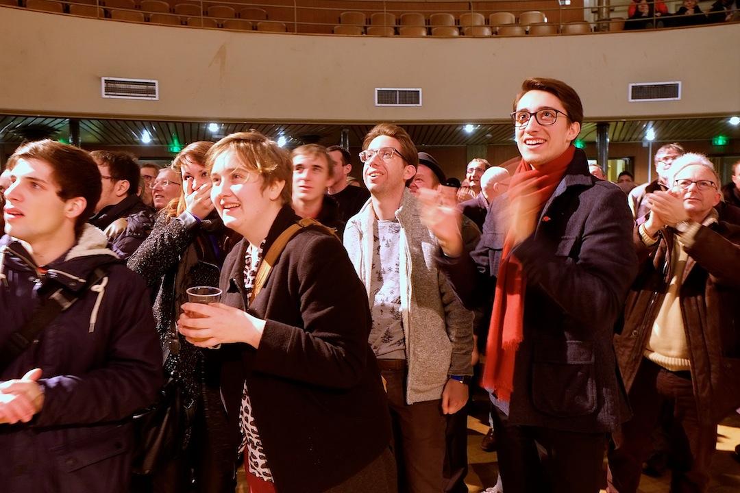 13 décembre 2015 au Kursaal. Marie-Guite Dufay gagne le second tour des régionales avec 34,7% et obtient 52,4% à Besançon... (photo d'archives DB)