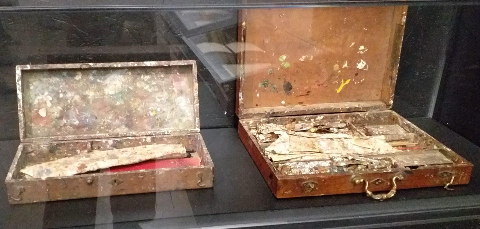 Les boites de couleurs d'Hodler et de Courbet