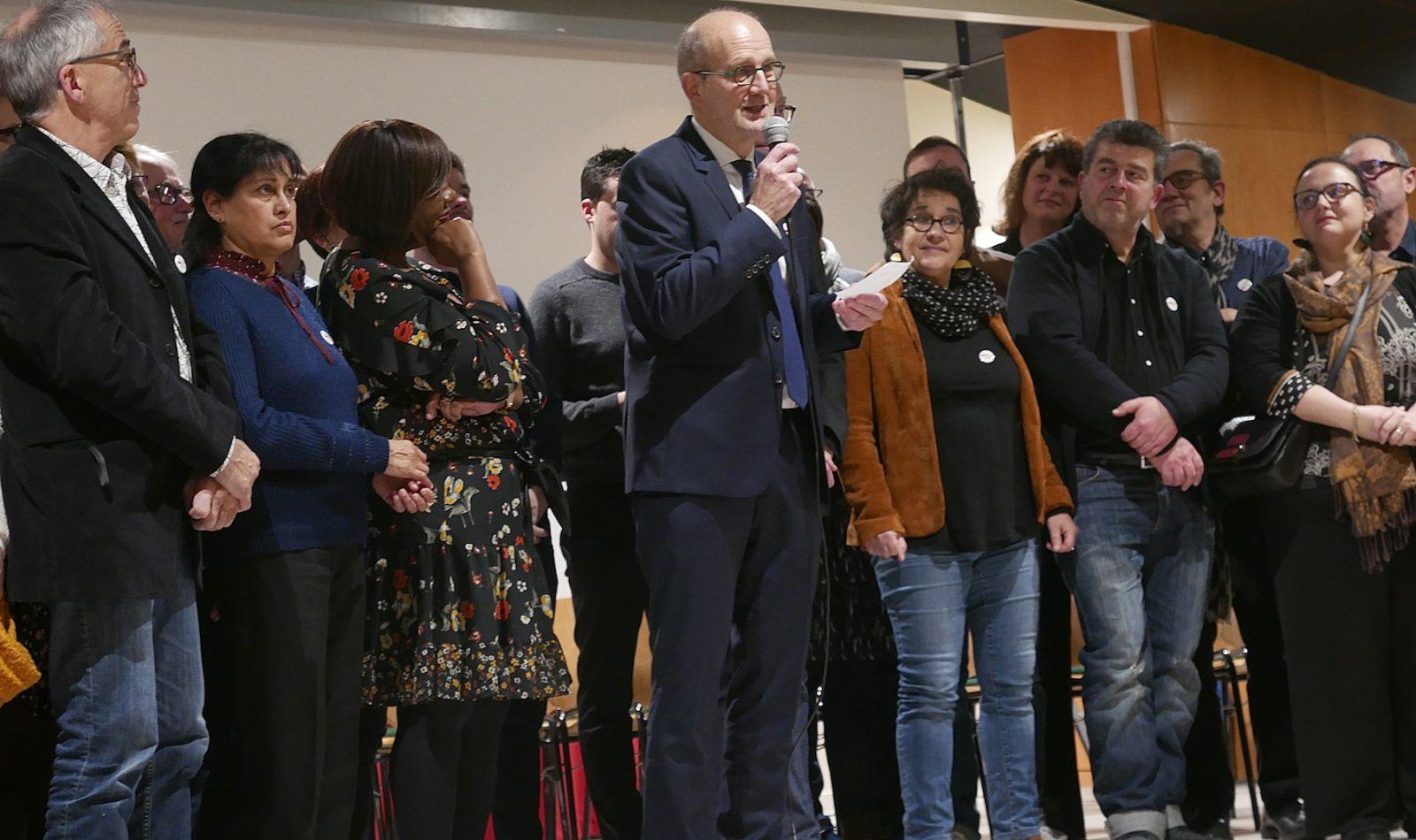 Jean-Yves Ravier, lors de la présentation de la liste, le 29 janvier à Juraparc.